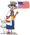 Maxine-with-flag