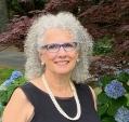 Janet in front of hydrangeas 2020